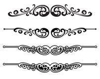 Elementos caligráficos do projeto do vetor decoração Imagem de Stock
