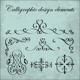 Elementos caligráficos do projeto - ferro forjado, vetor, illustratio Foto de Stock