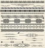 Elementos caligráficos e da decoração do projeto Fotos de Stock Royalty Free