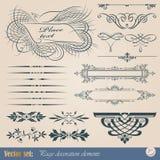 Elementos caligráficos do projeto Fotos de Stock Royalty Free