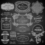 Elementos caligráficos retros del diseño Fotografía de archivo