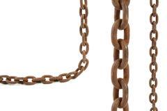 Elementos chain oxidados Imagens de Stock