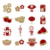 Elementos chinos del Año Nuevo, stock de ilustración