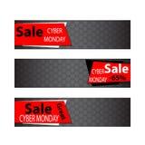 Elementos cibernéticos del web de las ventas de lunes Fotografía de archivo libre de regalías