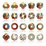 Elementos circulares abstractos del diseño stock de ilustración