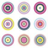 Elementos circulares del vector Foto de archivo