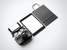 Elementos clássicos no fundo branco 3d Imagem de Stock