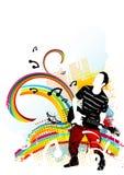 Elementos cobardes de la música ilustración del vector