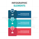 Elementos coloridos abstractos de Infographics del negocio de la flecha y de la etiqueta, ejemplo plano del vector del diseño de  ilustración del vector