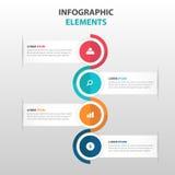 Elementos coloridos abstratos de Infographics do negócio da árvore, ilustração lisa do vetor do projeto do molde da apresentação  Imagens de Stock Royalty Free