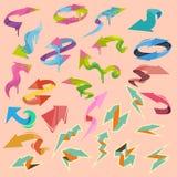 Elementos coloridos de las flechas del vector Fotos de archivo