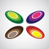 Elementos coloridos del diseño Fotografía de archivo