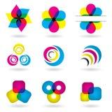 Elementos coloridos del diseño Fotos de archivo