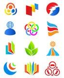 Elementos coloridos del diseño. Imágenes de archivo libres de regalías