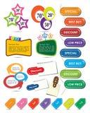 Elementos coloridos del diseño Foto de archivo libre de regalías