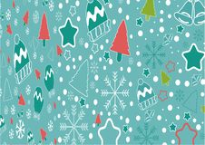 Elementos coloridos do molde do fundo do vetor da bandeira do Natal como presentes e decoração ilustração stock
