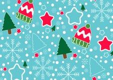 Elementos coloridos do molde do fundo do vetor da bandeira do Natal como presentes e decorações ilustração do vetor