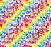 Elementos coloridos modernos no teste padrão abstrato Fotos de Stock