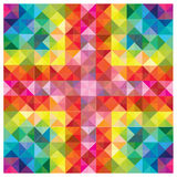 Elementos coloridos modernos no teste padrão abstrato ilustração stock