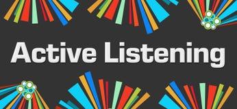 Elementos coloridos oscuros que escuchan del Active Imagen de archivo libre de regalías