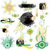 elementos con estilo florales del diseño Imagen de archivo