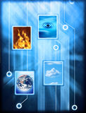 Elementos conectados de la naturaleza Imagenes de archivo