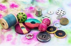 Elementos constitutivos para el montaje de gotas Fotografía de archivo libre de regalías