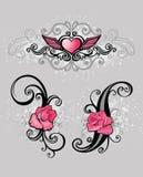Elementos cor-de-rosa do projeto ilustração stock