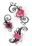 Elementos cor-de-rosa do projeto ilustração do vetor