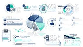 Elementos corporativos azules de Infographic con Alpha Channel stock de ilustración