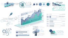 Elementos corporativos azules de Infographic con Alpha Channel ilustración del vector