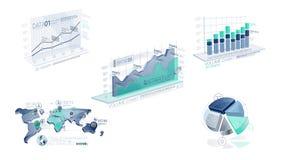 Elementos corporativos azules de Infographic con Alpha Channel libre illustration