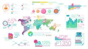 Elementos corporativos coloridos de Infographic con Alpha Channel libre illustration