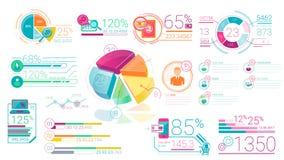 Elementos corporativos coloridos de Infographic con Alpha Channel ilustración del vector