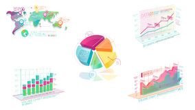 Elementos corporativos coloridos de Infographic con Alpha Channel stock de ilustración