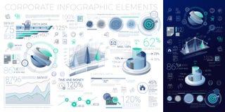 Elementos corporativos de Infographic Imagenes de archivo