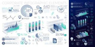 Elementos corporativos de Infographic Foto de archivo