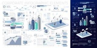 Elementos corporativos de Infographic Imágenes de archivo libres de regalías