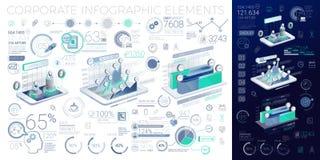 Elementos corporativos de Infographic Fotos de archivo