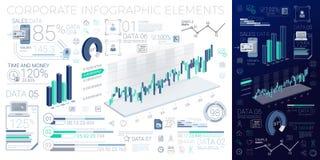 Elementos corporativos de Infographic Fotos de archivo libres de regalías