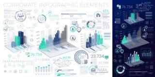 Elementos corporativos de Infographic Foto de archivo libre de regalías