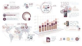 Elementos corporativos de Infographic con Alpha Channel ilustración del vector