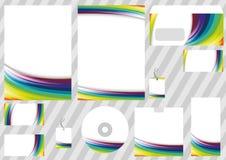 Elementos corporativos del diseño del arco iris - modelos Fotos de archivo