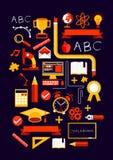 Elementos creativos de la educación Fotografía de archivo
