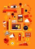 Elementos creativos del diseño Foto de archivo
