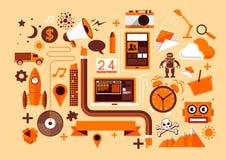 Elementos creativos del diseño Fotos de archivo libres de regalías