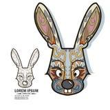 Elementos creativos del logotipo y del diseño con el conejo Fotos de archivo