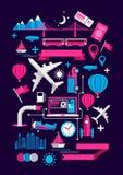 Elementos creativos del transporte Imagen de archivo libre de regalías