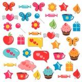 Elementos criançolas coloridos bonitos para o projeto Fotografia de Stock