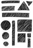 Elementos cruzados dibujados marcador de la portilla Imagen de archivo libre de regalías